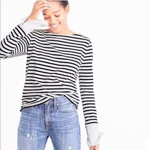 J Crew Striped Boatneck Shirt